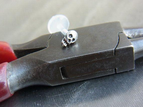 Mini Skull  tragus / cartilage /helix earring  by PiercingRoom, $12.95 tragus