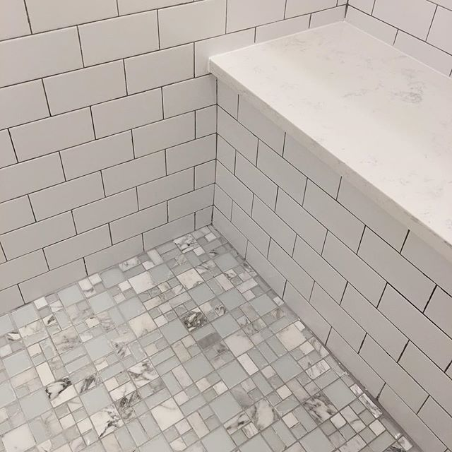 Master Shower Detail. Not My First Choice For The Floor