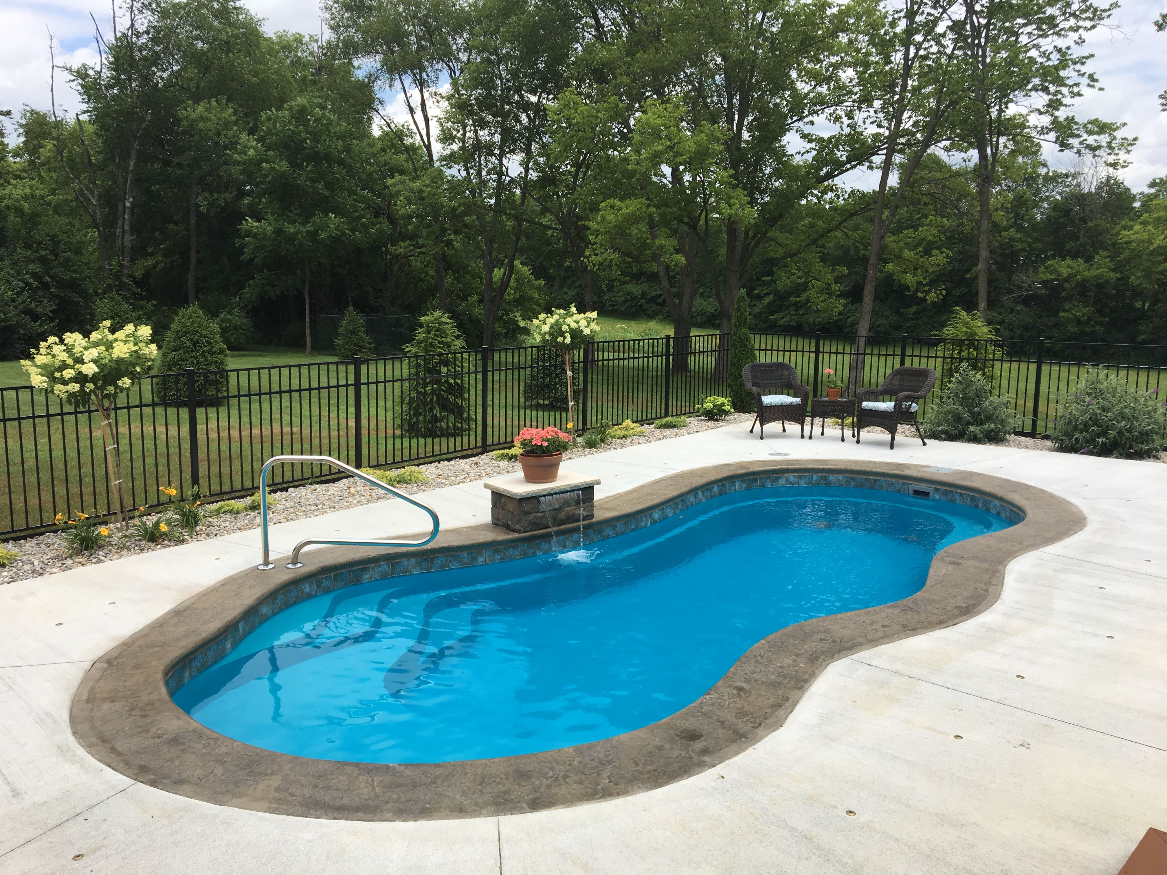 Imagine Pools The Fantasy Fiberglass Swimming Pools Pool Backyard Pool