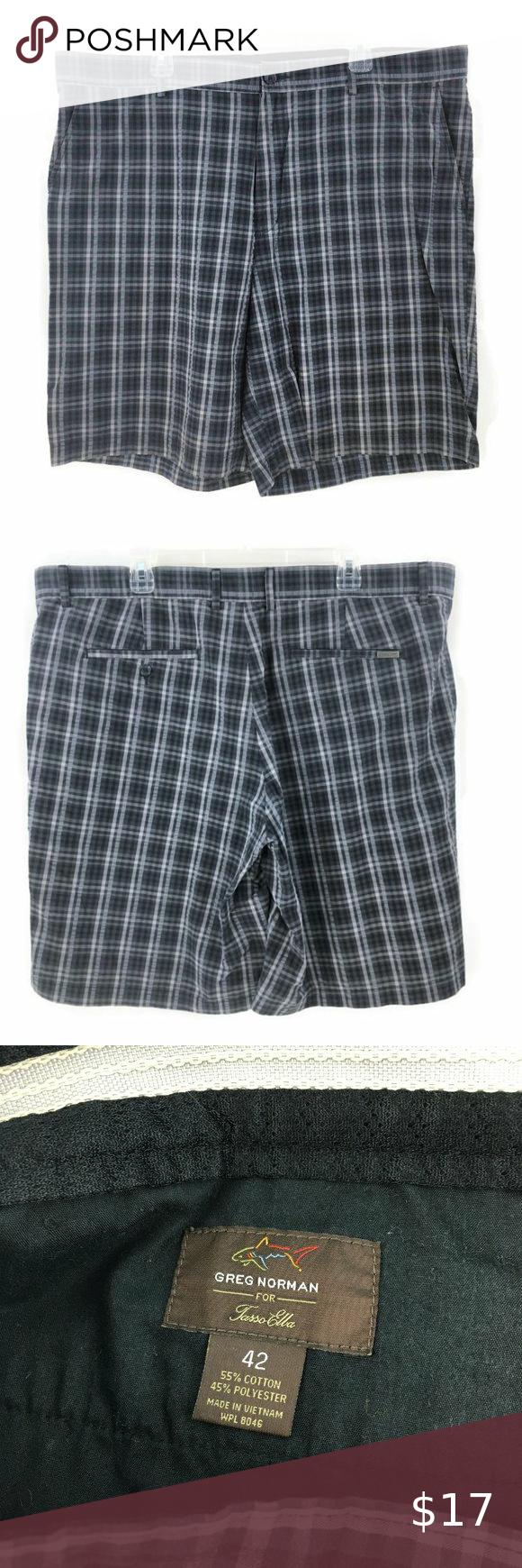 Greg Norman Men S Shorts Seersucker Plaid Ins 11 In 2020 Seersucker Clothes Design Trouser Style