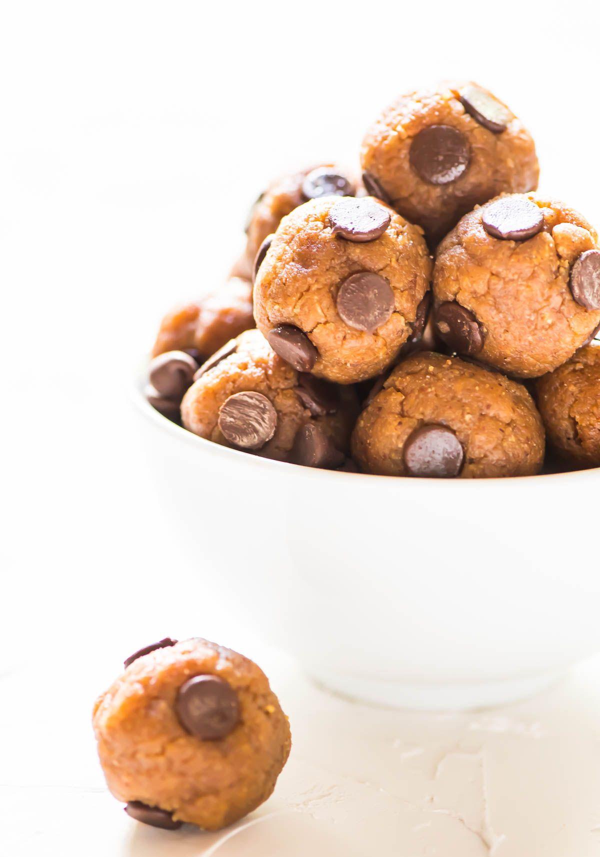 No Bake Cookie Dough Protein Balls Recipe Grain Free Protein