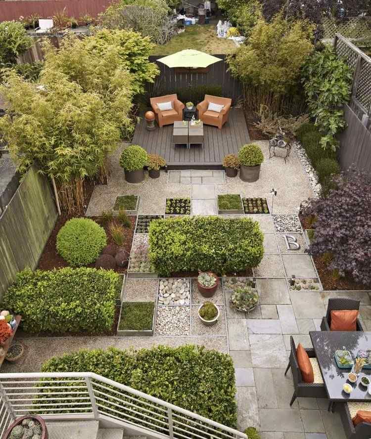 Terrasse de jardin moderne - planification et conception | BAHÇELER ...