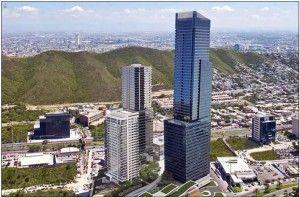 La Torre Koi está proyectada para el 2015 y será el edificio más alto de México con 276 metros. 56 metros más alta que la Torre Mayor.