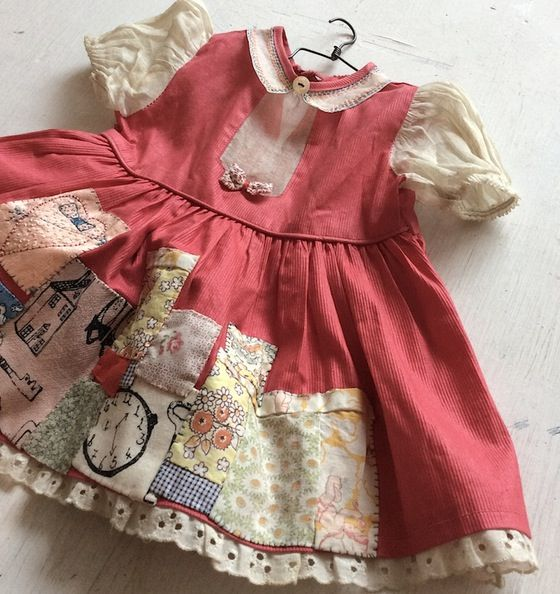 Image of Sacret heart patchwork dress with found hanger