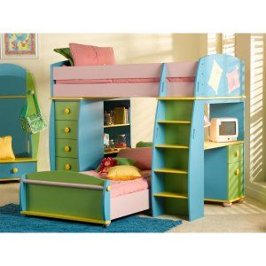 Nice Bunk Beds With A Desk At The End, So They Have More Room To Move