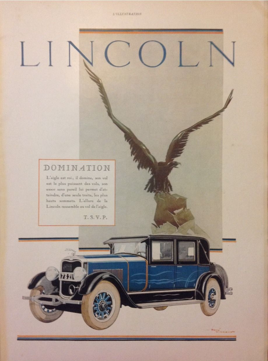 Vintage Advertisement From 1927 For The Classic Car LINCOLN What You Buy Is An Original Page French Magazine LIllustration Issued On April