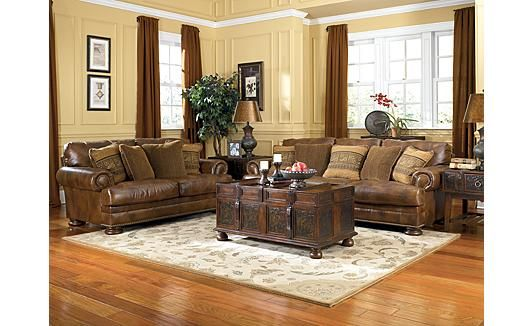 Ralston - Teak Sofa Ashley Furniture