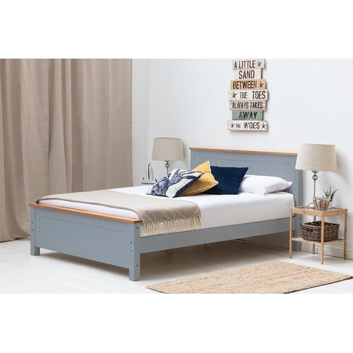 Franklin Wooden Bed Frame Brambly Cottage Colour Grey Size