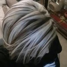 Dark Brown Hair With Platinum Blonde Highlights Pictures