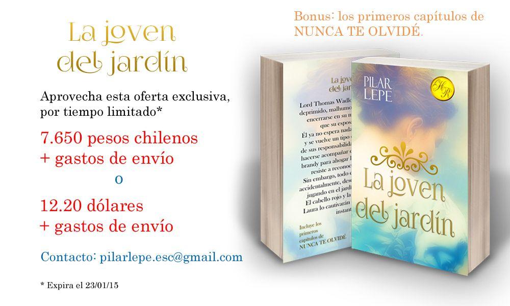 """Venta de libro físico de """"La joven del jardín"""" autografiado."""