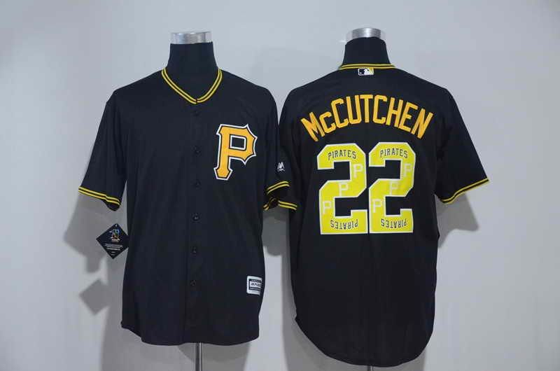 65fe0048a  21 Pittsburgh Pirates  22 Andrew McCutchen Black MLB Majestic Cool Base  Stitched Men s Team Logo