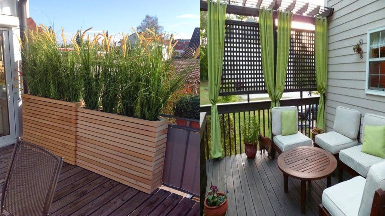 Inspiring Small Balcony Privacy Screen Ideas Small Balcony Designs Balcony Privacy Screen Backyard Privacy Screen Patio Railing