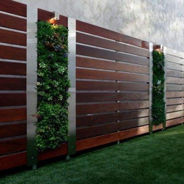Modern Garden Fencing Ideas Lawn Planted