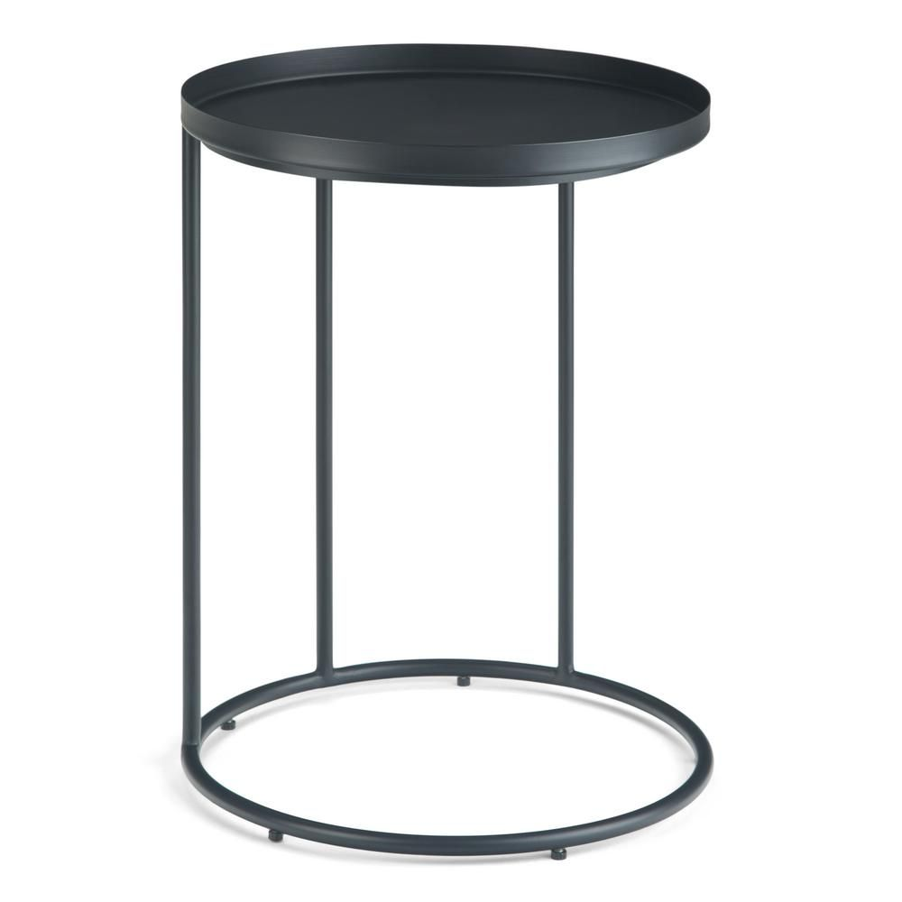 Simpli Home Monet Black Metal Side Table Metal Side Table Accent Side Table Black Side Table