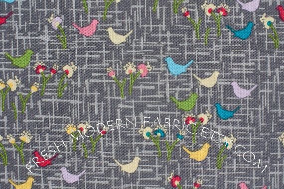 Meadow, Peacock Lane, by Violet Craft for Michael Miller Fabrics, 100% Cotton Fabric.