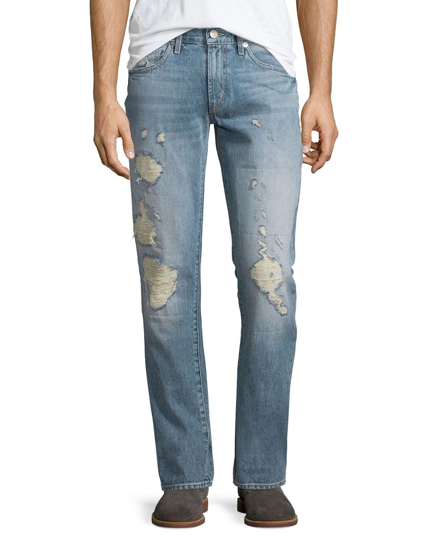 Tyler Destroyed Slim-Fit Denim Jeans, Destructed Kragg, Men's, Size: 32 - J Brand Jeans