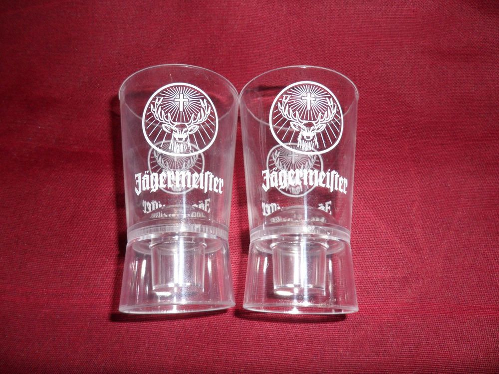 New JAGERMEISTER Orange glass tea candle holder Battery Operated