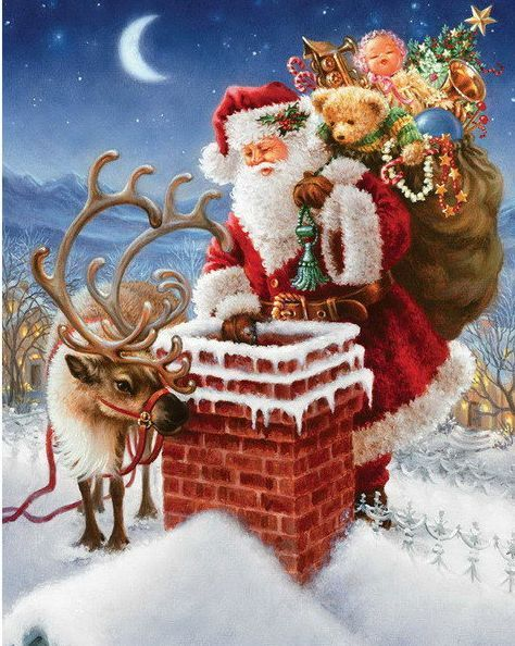 5d Diamond Painting Diy Santa Father Xmas Cross Stitch Embroidery