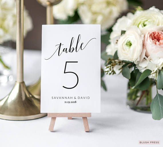 wedding table number cards template  printable table numbers  table number wedding  wedding