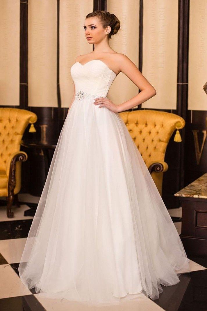 59de1d4e12f4 abito da sposa con gonna a trapezio tessuto tulle