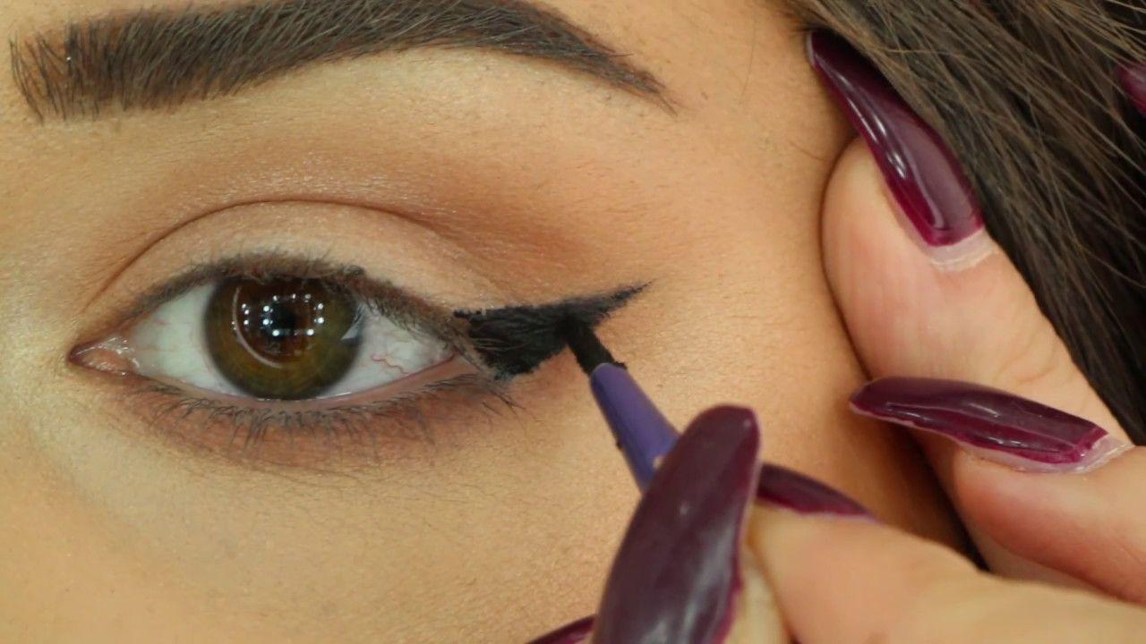 Best Way To Draw A Perfect Eyeliner For Hooded Eyes أفضل طريقة لرسم الاي Eyeliner For Hooded Eyes Eye Makeup Eyeliner For Big Eyes