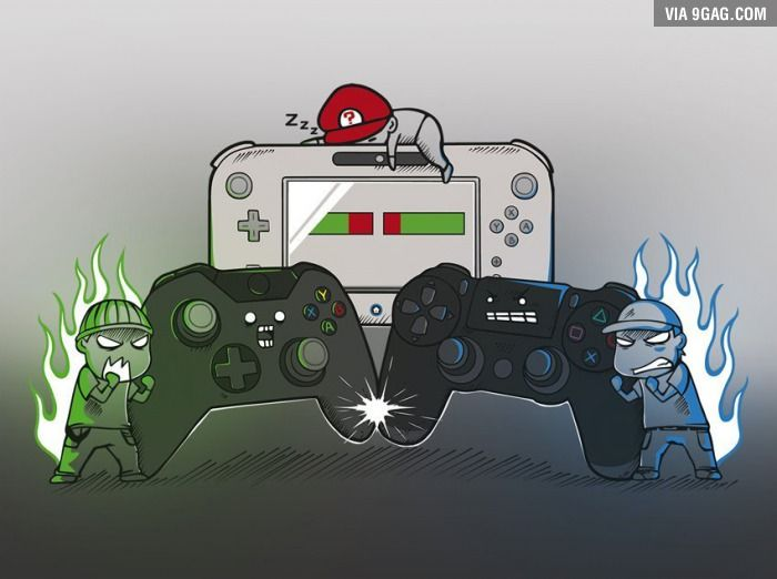 Console Wars | Funny games, Funny gaming memes, Games