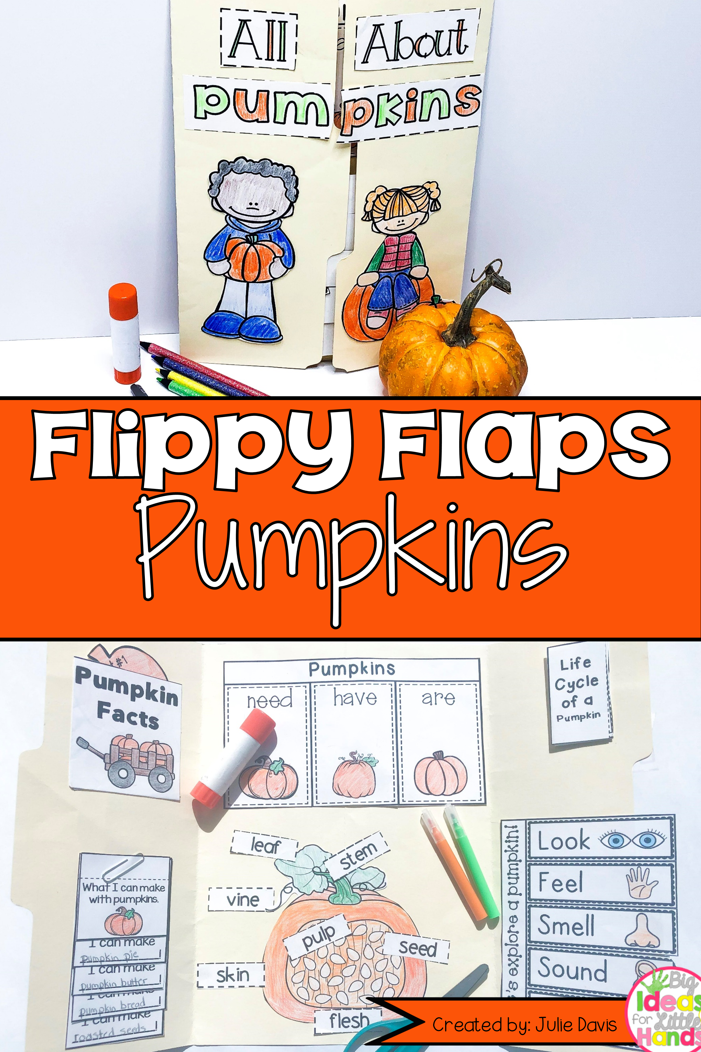 Pumpkin Activities Interactive Notebook Lapbook
