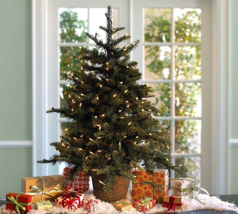 decoracion de navidad ideas para decorar arbol pequeno moderno - Arbol De Navidad Pequeo