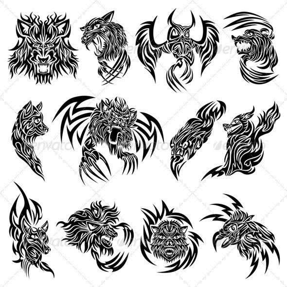 Wild Animals Tattoo Tribal Animal Tattoos Animal Tattoos Animal Tattoo