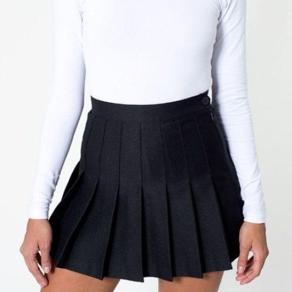 0f42b2c213 American apparel tennis skirt BLACK Black cute tennis skirt from AA, super  good condition American Apparel Skirts Mini