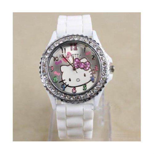 9bc0c396b New Lovely Fashion Hello Kitty watches Girls Ladies Wrist Watch WKT@TLJ574W  - List price: $15.98 Price: $7.99 Saving: $7.99 (50%)