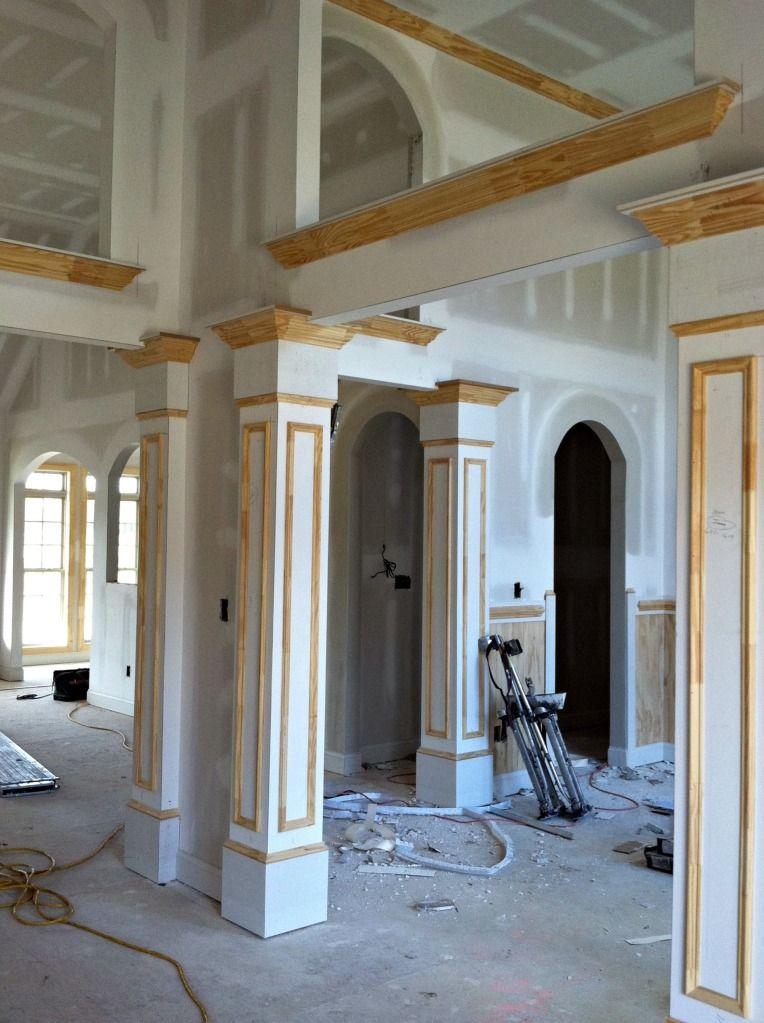 How we updated our interior faux columns decor pinterest room dining and also rh