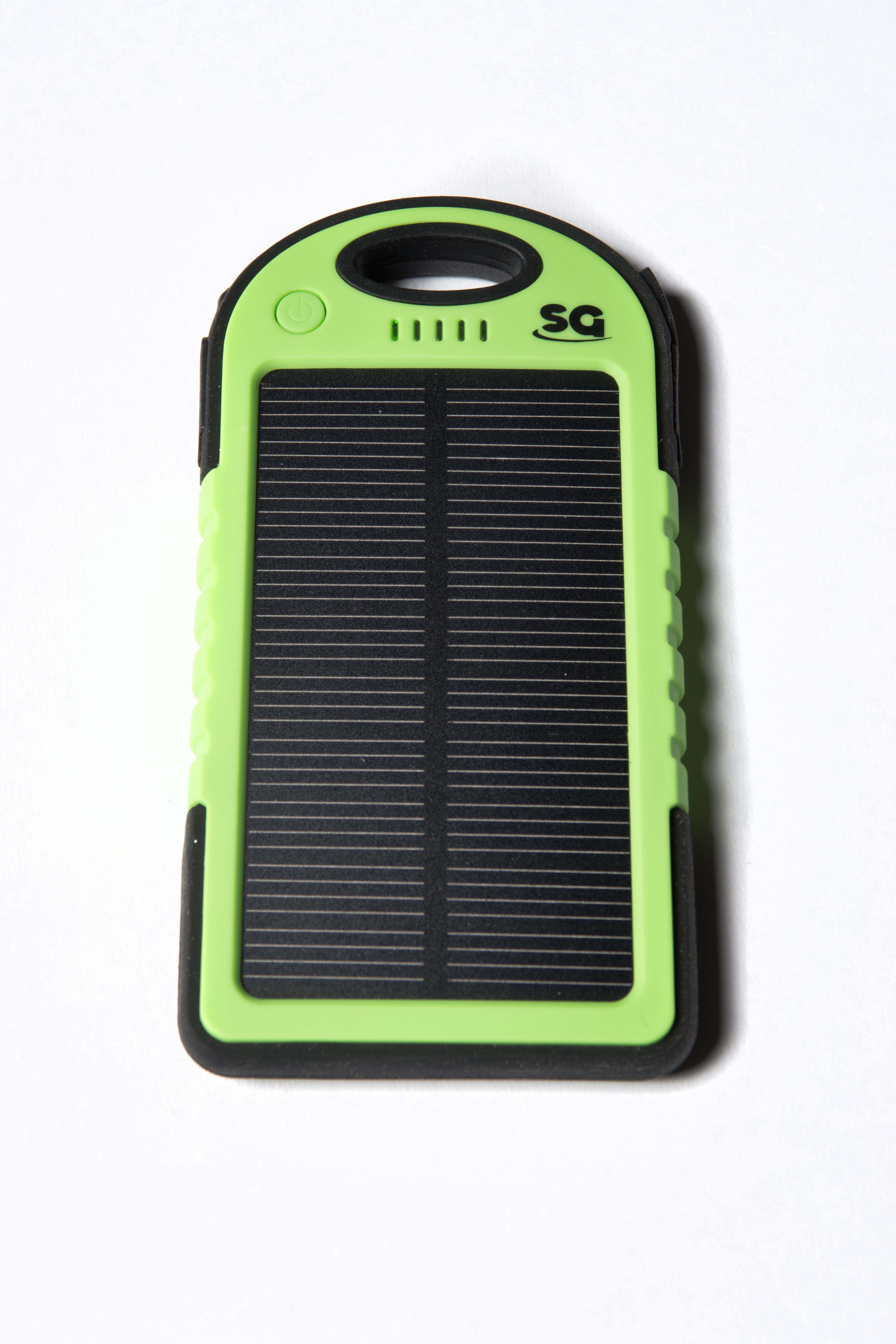 sga sport solar panel charger 5000mah shock proof feature ensures