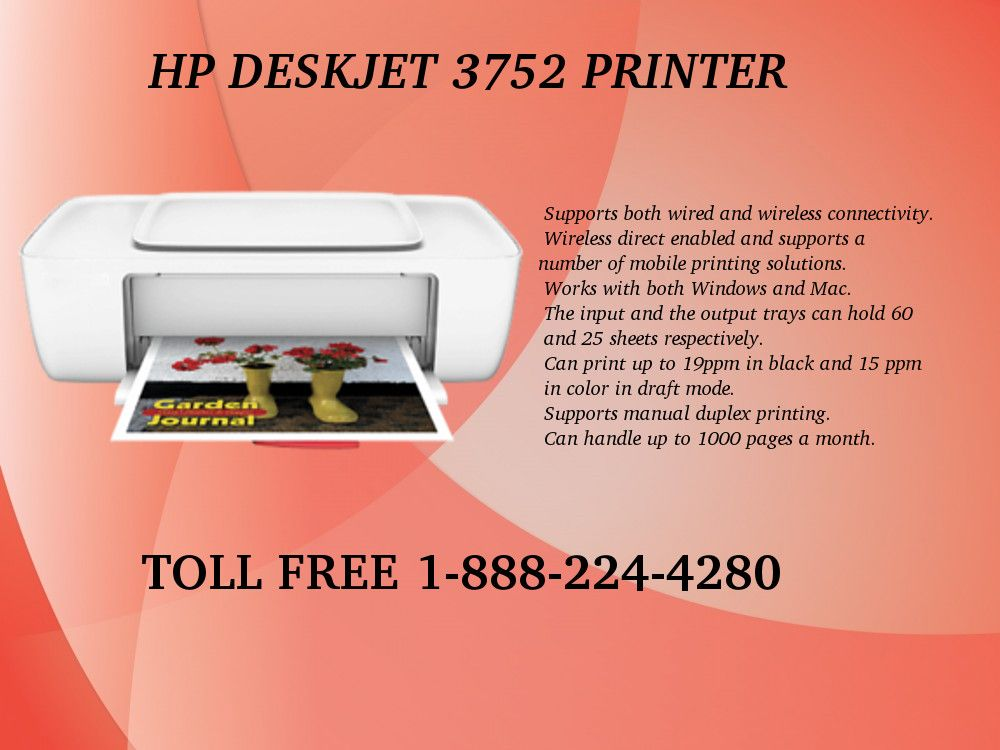 123 hp com/dj3752 Printer Support | HP Deskjet Printer