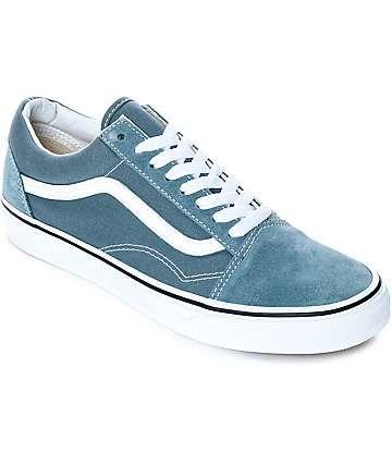Vans Old Skool Goblin Blue White Skate Shoes Vans Vans Old Skool Skate Shoes