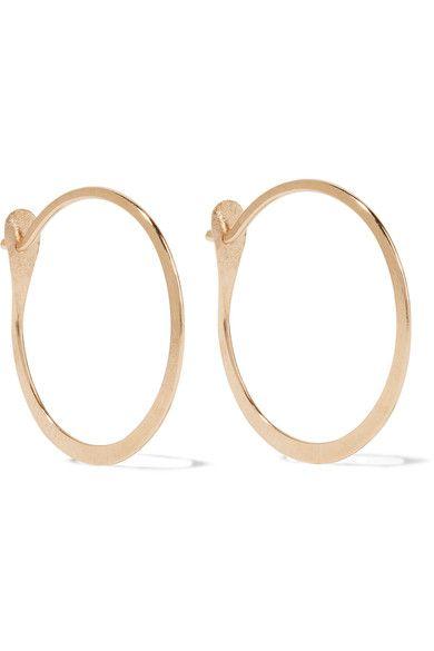 Melissa Joy Manning 14 Karat Gold Hoop Earrings 165 Post Fastening