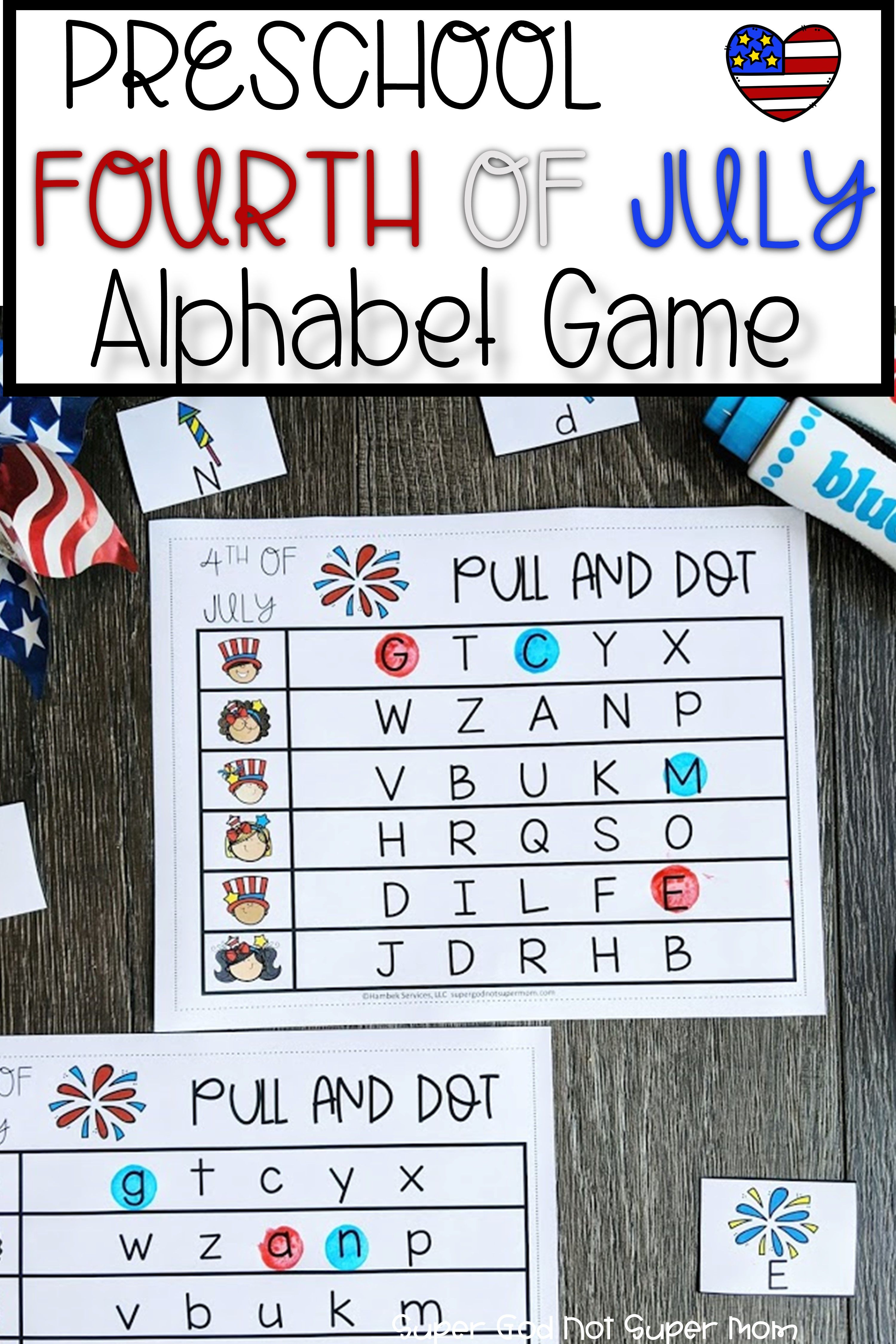Fourth Of July Alphabet Activity Super God Not Super Mom Alphabet Activities Preschool Free Preschool Activities Alphabet Activities [ 4500 x 3000 Pixel ]