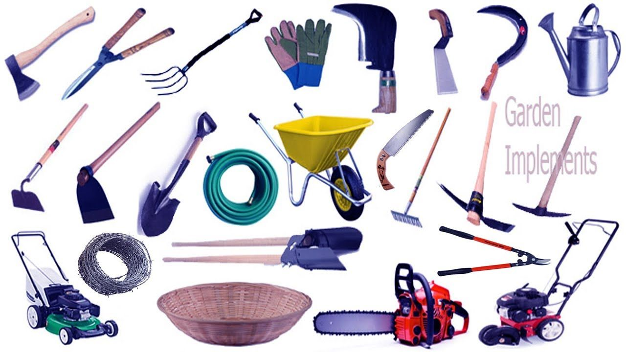 Garden Tools Name & Image English & Bengali Meaning With