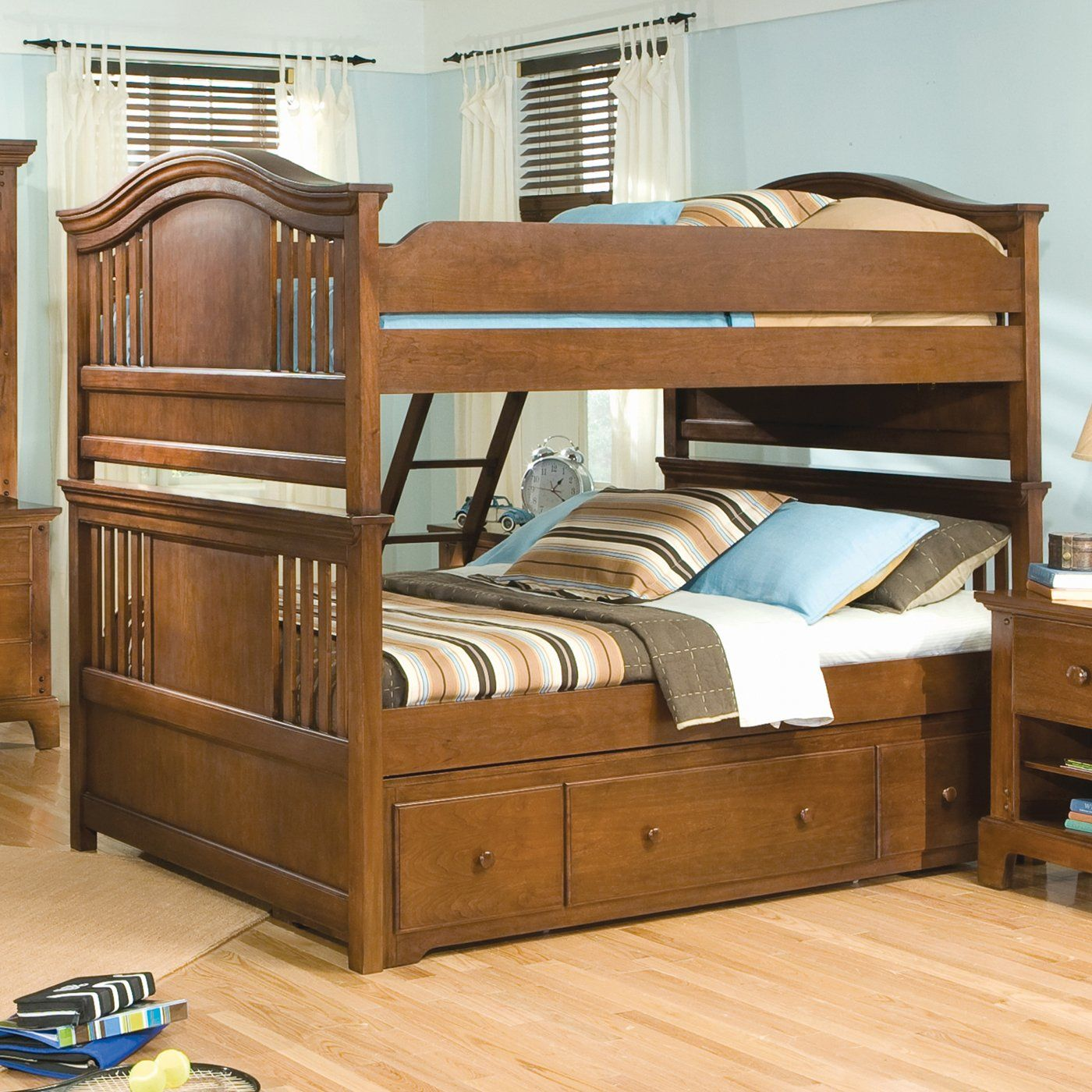 American Woodcrafters 82000 Bradford Bunk Bed For The Home