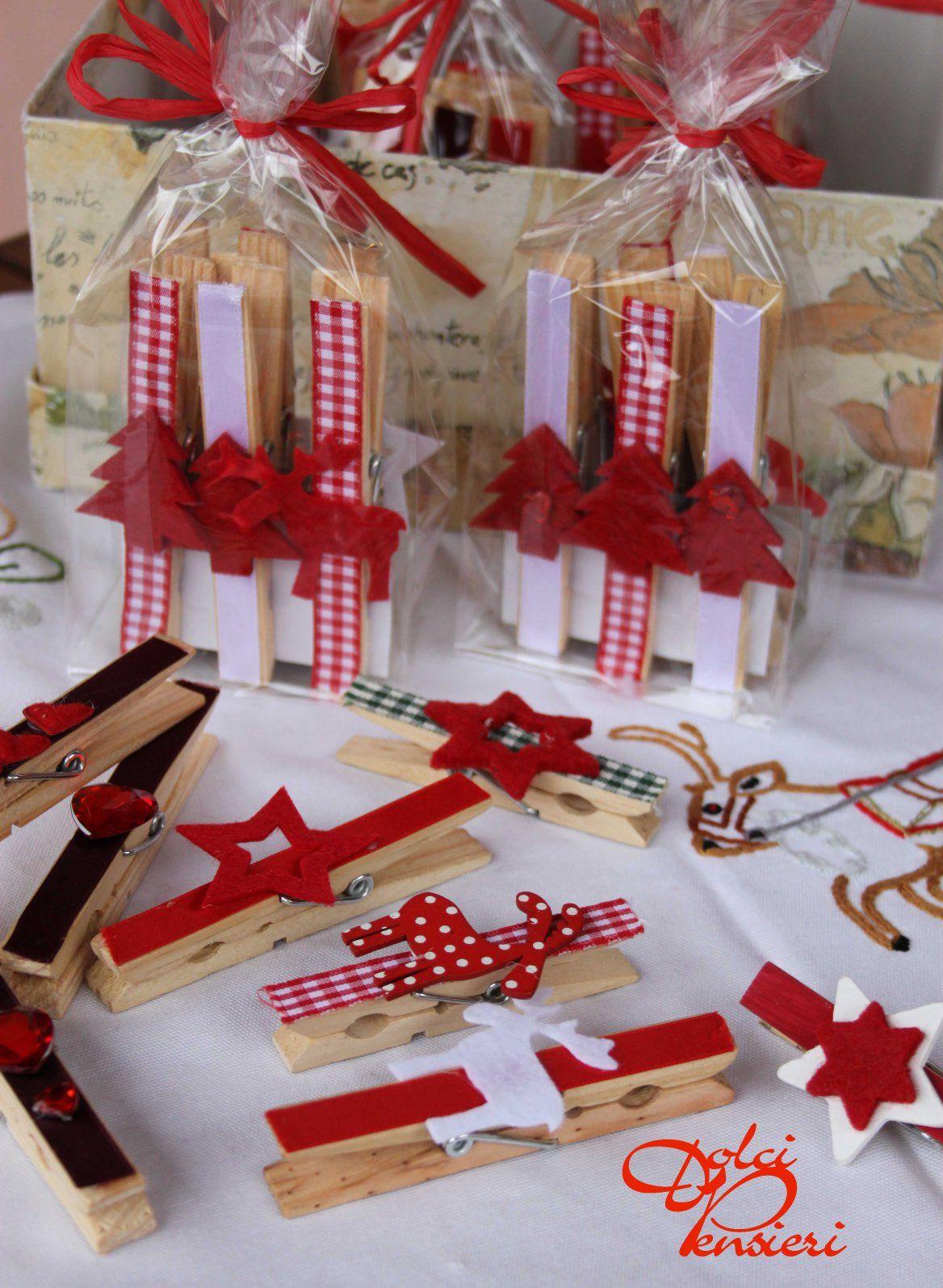 Mollette chiudi pacco di dolcipensieri natale for Oggetti decorativi fai da te