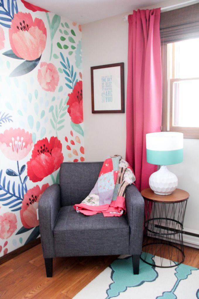 Modern Floral Little Girl Bedroom Reveal, Modern Little Girl Bedroom, Floral Girl's Bedroom, Modern Bedroom for Little Girl, Floral Modern Girl's Bedroom