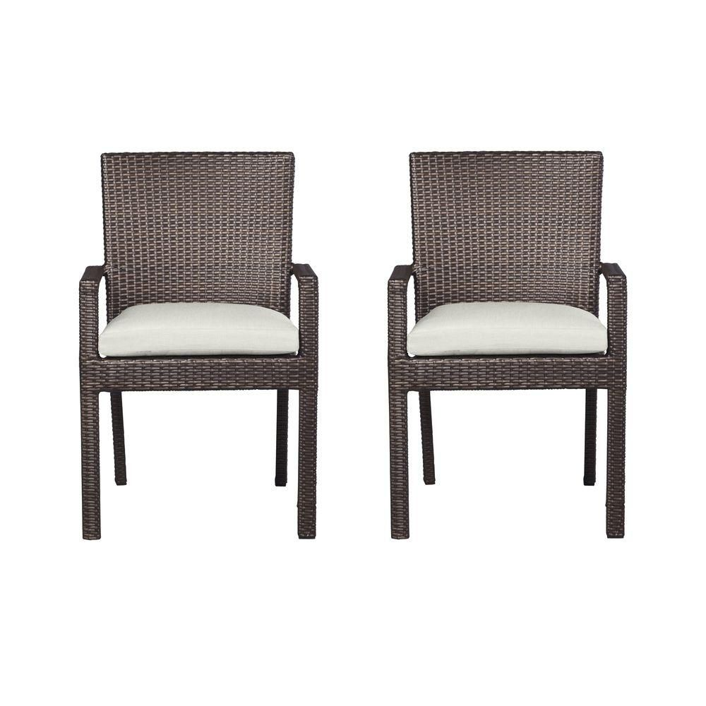 Hampton Bay Beverly Arm Patio Dining Chairs with Bare