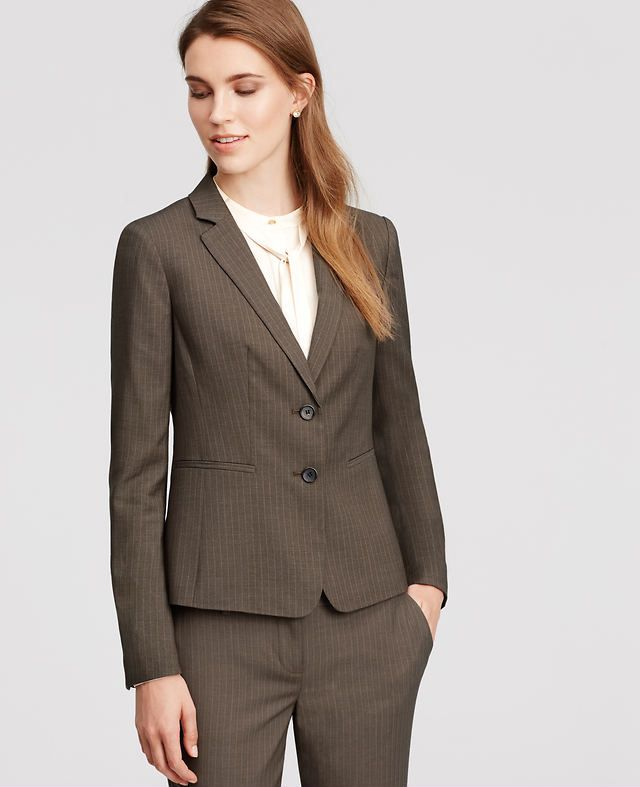 Pinstripe Two Button Jacket | Ann Taylor