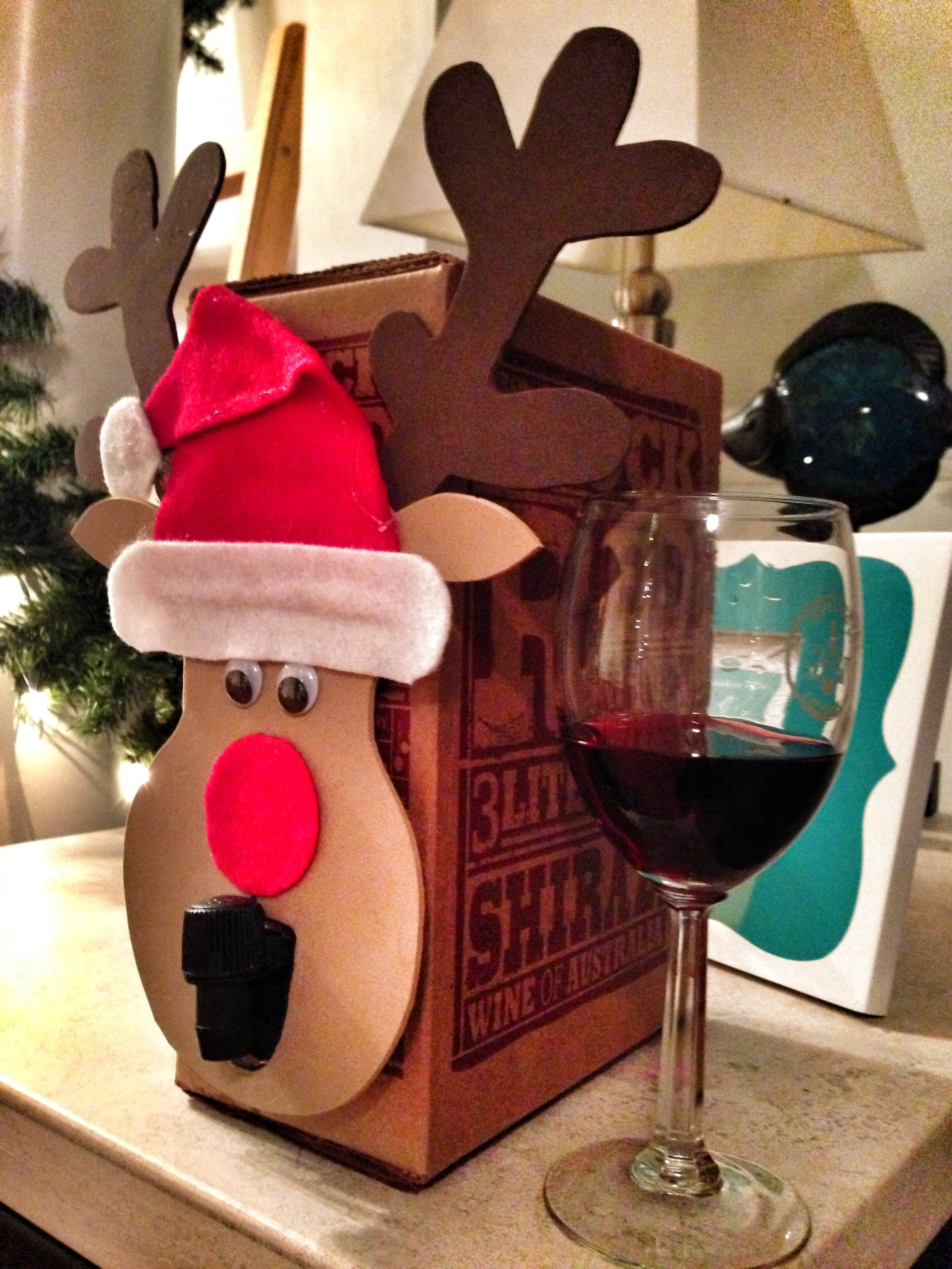 How To Turn Boxed Wine Into A Classy Secret Santa Gift Funny Christmas Gifts Christmas Party Gift Funny Secret Santa Gifts