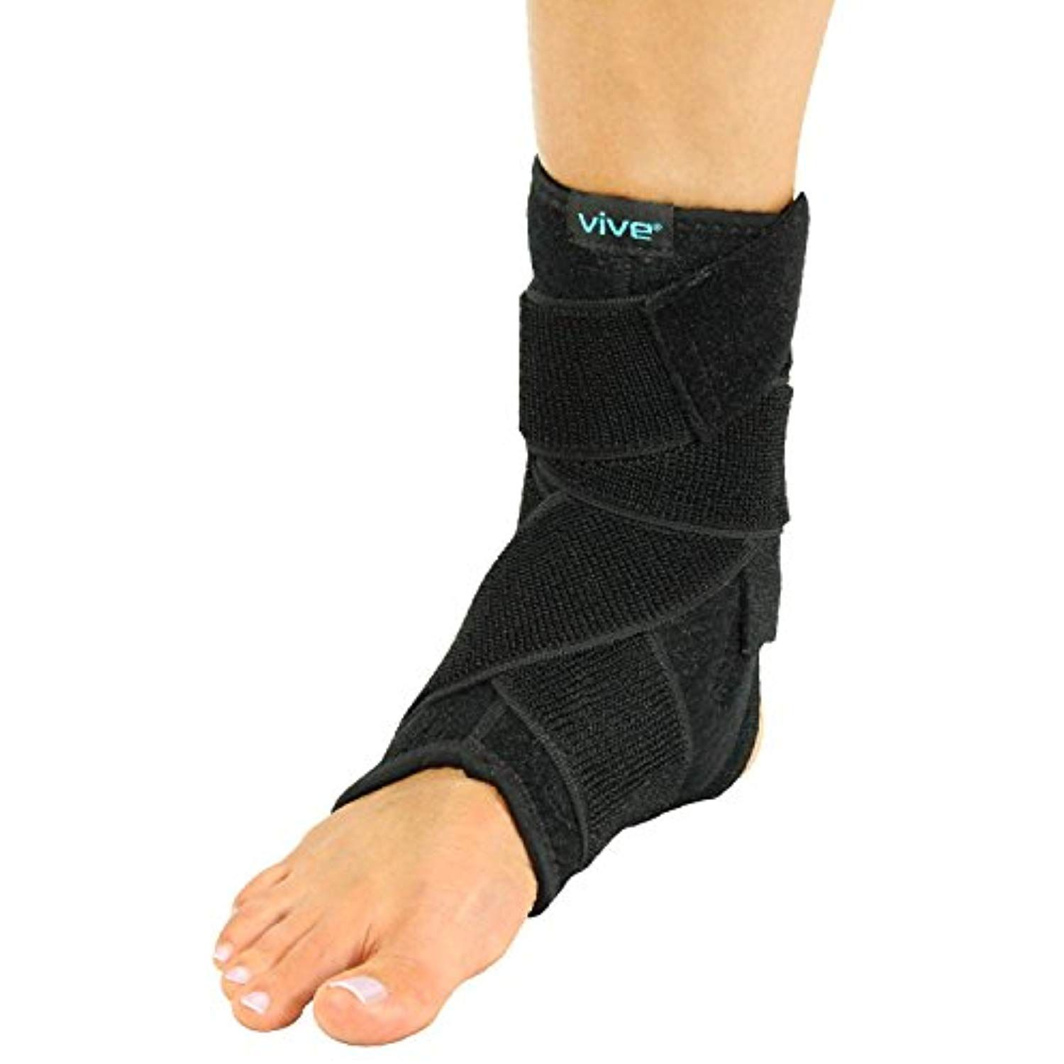 Ankle Stabilizer Brace By Vive Neoprene Compression Wrap Support And Foot Protector For Tendonitis Sprained Ankles Run Ankle Braces Heel Spurs Running Feet