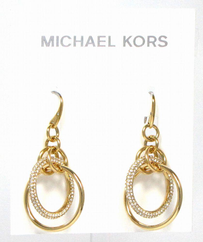 Michael Kors Jewelry Earrings Gold Tone Pave Orbital Circle Nwt 95 Mkj5849710 Michaelkors Dropdangl Gold Jewelry Earrings Michael Kors Jewelry Pave Crystal