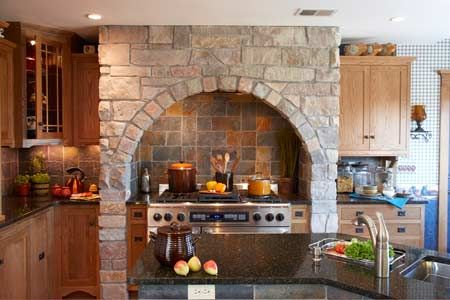 Stone Arch Over Stove To View The