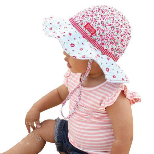 4096e7930e9 Millymook Baby Girls Reversible Cotton Rosie Poise Floppy Sun Hat (Infant  0-12 Months)