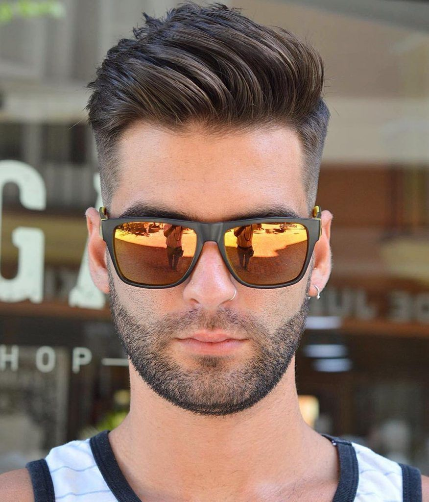 Mens haircut short on sides virogasbarbermediumlengthmenshaircut  hairstyles  pinterest