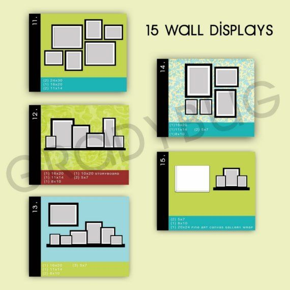 Wall Display Templates for Photographers | Template, Display and Walls